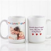 Personalized Photo Message Coffee Mug 15 oz.- White - 2584-L