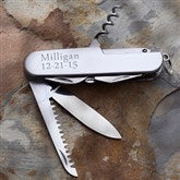 Personalized 13-Function Stainless Pocket Knife