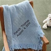 Embroidered Sweet Dreams Baby Blanket - Sky Blue - 2618-B