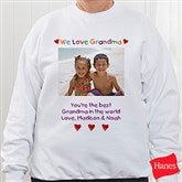 Personalized Photo Message Adult Sweatshirt - 2642-S