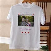 Personalized Photo Message© Black Adult T-Shirt - 2643-BT