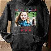 Personalized Photo Message Black Sweatshirt - 2643-BS