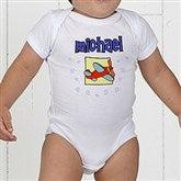 He's All Boy Personalized Baby Bodysuit - 2750-CBB