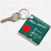 Chalkboard Teacher Personalized Key Ring - 2810