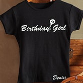 Birthday Girl Black Fitted Tee - Youth - 2830-GB
