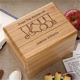 From The Kitchen Of... Personalized Bamboo Recipe Box - 2873-B