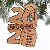 Personalized Graduation Girl 2020 Quarantine Christmas Ornament