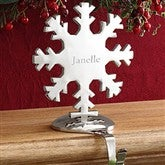 Engraved Snowflake Personalized Christmas Stocking Holder