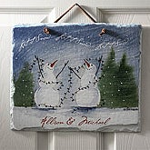 Snow Couple Personalized Slate Plaque - 3102