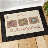 Sea Shore Greetings Personalized Doormat- 18x27 - 3109