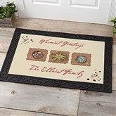 Sea Shore Greetings Personalized Doormat- 20x35 - 3109-M