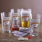 Poker Room Pub Glass Set - 3255D-M