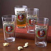 Neighborhood Pub Pint Glasses - Set of 4 - 3256D-M