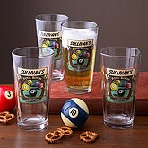 Pool Room Pint Glasses - Set of 4 - 3257D-M