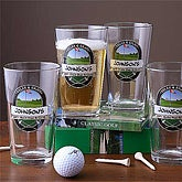 19th Hole Pint Glasses - Set of 4 - 3259D-M