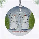 1-Sided Snow Couple Personalized Ornament - 3333-1