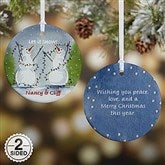 2-Sided Snow Couple Personalized Ornament - 3333-2