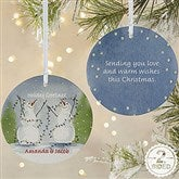 2-Sided Snow Couple Personalized Ornament-Large - 3333-2L