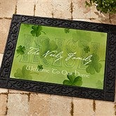 An Irish Welcome Personalized Recycled Rubber Back Doormat - 3346