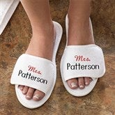 Mrs. Personalized Terry Spa Slippers - 3348-L