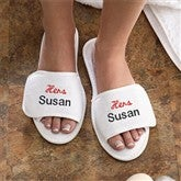 His & Hers Collection Personalized Spa Slippers - Hers - 3349-L