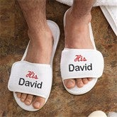 His & Hers Collection Personalized Spa Slippers- His - 3349-M