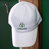 Custom Embroidered Shamrock Hat - White - 3368-W