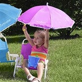 Personalized Beach Chair & Umbrella Set- Pink - 3385-P