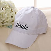 Our Wedding Party Embroidered Baseball Cap - White - 3397-W
