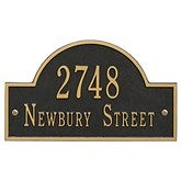 Grand Arch House Address Personalized Aluminum Plaque - 3400D