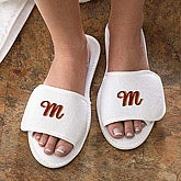 Bath Time Monogram© Terry Slippers - 3413