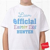 Official Egg Hunter Personalized Hanes® Youth T-Shirt - 3445-YCT