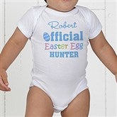 Official Egg Hunter Personalized Baby Bodysuit - 3445-CBB