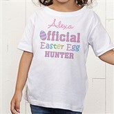 Official Egg Hunter Personalized Toddler T-Shirt - 3445-TT
