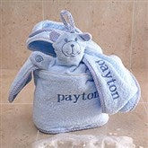 Personalized Terry Bath Set - Blue - 3503-B