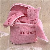 Personalized Terry Bath Set - Pink - 3503-P