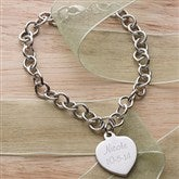 My Little Heart Charm Bracelet- 2 Line Message - 3527-M
