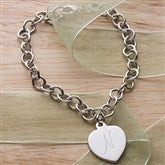 My Little Heart Charm Bracelet-  Initial - 3527-I