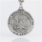 St. Michael Men's Pendant- Army - 3529-A