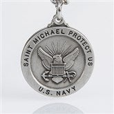 St. Michael Men's Pendant- Navy - 3529-N