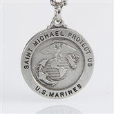 St. Michael Men's Pendant- Marines - 3529-M
