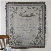 My Baptism© Personalized Afghan - Blue - 3642-B