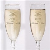 Mr. and Mrs. Collection Personalized Flute Set - 3706