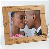 Mr. & Mrs. Collection Engraved Photo Frame- 8x10 - 3817-L