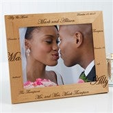 Mr. & Mrs. Collection Engraved Photo Frame- 8 x 10 - 3817-L