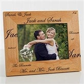 Mr. & Mrs. Collection Engraved Photo Frame- 5 x 7 - 3817-M