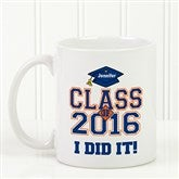 Cheers to the Graduate Personalized Coffee Mug 11oz.- White - 3833-W