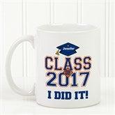 Cheers to the Graduate Personalized Coffee Mug 11oz.- White - 3833-W