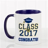 Cheers to the Graduate Personalized Coffee Mug 11oz.- Blue - 3833-BL