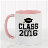 Cheers to the Graduate Personalized Coffee Mug 11oz.- Pink - 3833-P
